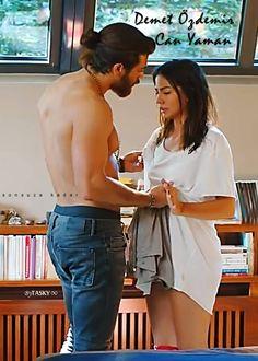 Turkish Men, Turkish Actors, Canned Yams, Love Kiss, Romantic Moments, Man Bun, Early Bird, Sweet Couple, Attractive Men