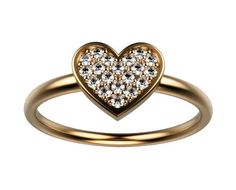 Diamond ring, Heart ring, Love ring, Multi stone Ring, Pave Ring, White Yellow or Rose gold, love  Setting: Metal type: 14K or 18K White, Yellow or Rose gold Setting type: Pave setting  Main Stone: Stone type: Natural Diamonds Shape: Round Brilliant cut Weight: 19 stones / 0.15 carat Color: E-F Clarity: VVS Cut: Excellent  Includes: * Certificate of Authenticity * Exclusive Ring box * Elegant package * Shipping with ECCO post 4-5 days (traceable & insured)  See more Engagement Rings...