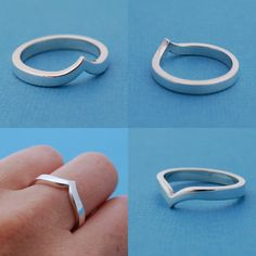 La Vague - sterling silver ring. $55.00, via Etsy.