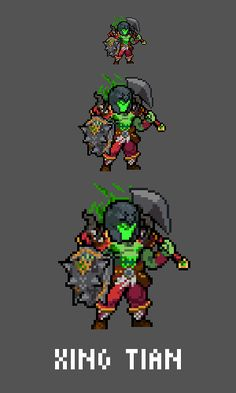 Xing Tian - The Relentless Emote / Sprite we made for Smitewww.twitch.tv/smitegame