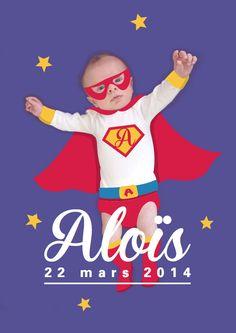 Faire-part de naissance personnalisé (illustration + photo) © Clemz Clémentine Achat