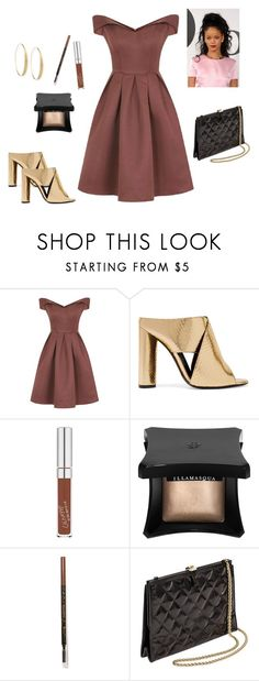 """""""Elegant Party Look"""" by fashionislife-759 ❤ liked on Polyvore featuring Chi Chi, Tom Ford, Illamasqua, L.A. Girl, Chanel and Lana"""