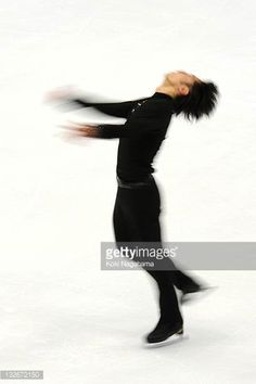 Daisuke Takahashi of Japan performs in the men's singles during day three of the ISU Grand Prix of Figure Skating NHK Trophy at Makomanai Sekisui...