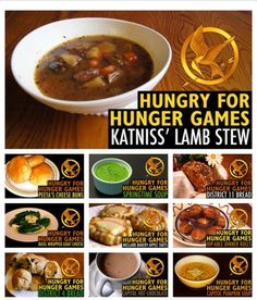Hunger Games food. Hunger Games Party, Hunger Games Trilogy, Dancing In The Kitchen, Movie Marathon, Saga, Dinner And A Movie, Cooking Lamb, Dinner Themes, Lamb Chops