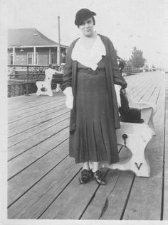 My Great-Aunt Louise McNulty. On the boardwalk in Verdun, PQ Dated Sept Old Montreal, Montreal Ville, Great Aunt, Urban, Annie, Memories, Places, Photos, Life