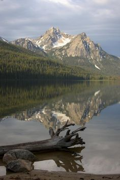 Mount McGown reflected in Stanley Lake, Idaho; photo by Linda Lantzy rafttrips.com
