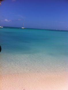 The ocean off of Palm Beach, Aruba