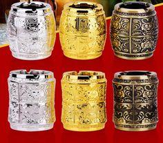Household Merchandises Ashtrays metal alloy vintage engraving 3D Carve patterns ashtray free shipping #Affiliate