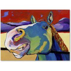 Trademark Fine Art Eye to Eye Canvas Art by Pat Saunders-White, Size: 24 x 32, Red