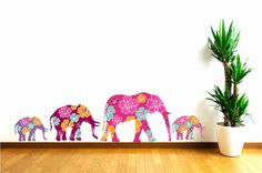 Children Decor Pink Elephants Fabric Wall Decals by Popitay, $90.00