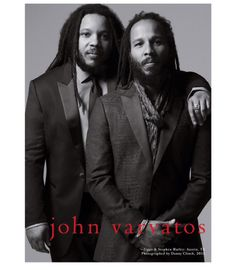Fashion on The Corner- Stephen and Ziggy Marley for John Varvatos SS15 Two of the brothers from the Marley clan, will be the faces of John Varvatos Spring 2015 ad campaign. I love how they don't look...