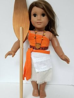 Moana Outfit for the American Girl or Wellie Wisher Doll by Anniesdollyboutique on Etsy American Girl Doll Costumes, American Girl Crafts, American Girl Clothes, American Girls, Moana Outfits, Princess Outfits, Ag Doll Clothes, Doll Clothes Patterns, Doll Patterns