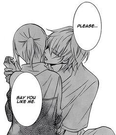 No. Say you love me.