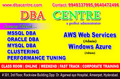 DBA CENTRE IN HYDERABAD, REAL TIME TRAINING