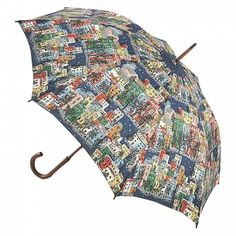 A classic Cath Kidston Umbrella with the Town Houses image. This is a multi coloured umbrella with pretty coloured houses.  A chic and sophisticated umbrella with a lightweight and strong fibreglass frame.  This is a fashionable, strong and lightweight walking umbrella  A comfortable and branded wooden crook handle.  http://www.theumbrellashop.co.uk/occasion-c30/cath-kidston-c92/cath-kidston-cath-kidston-town-houses-classic-kensington-umbrella-p582