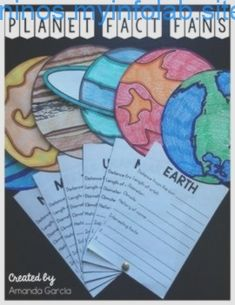 Planet Fact Fans This fun STEAM project allows students to research the planets, sun, and moon, displa Kid Science, School Science Projects, Elementary Science Classroom, Science Classroom Decorations, Classroom Projects, Science Experiments Kids, Middle School Science, Classroom Displays, Science Fair