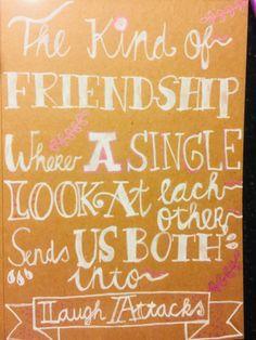 Handlettering friendship
