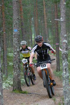 Rokua MTB Team. Rokua MTB tapahtuma 20.8.2016, Rokua Health & Spa Hotel, Suomi. Kuva: Tarja Kivirinta. Mountain biking in Finland