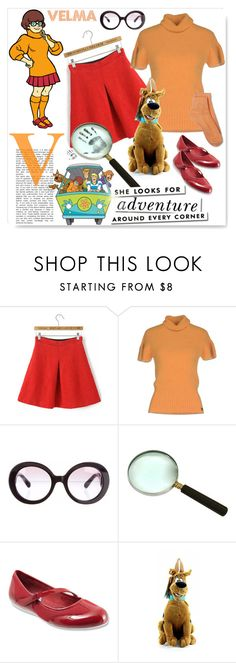 """Velma~ 60 second costume !"" by drenise ❤ liked on Polyvore featuring Gaudì, Prada, SoftWalk, Kate Spade, Merona, fashionset, velma, halloweencostume and 60secondstyle"