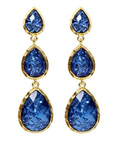 Take a look at this Blue East Hampton Andra Drop Earrings by Amrita Singh on #zulily today!