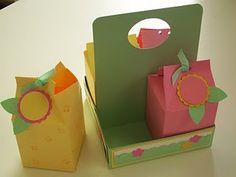Scatoline del latte con porta scatole
