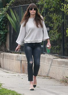 Classic look: On Friday morning, Jessica Biel, 35, was spotted out and about in a cute off...