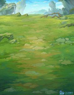 竖版玄幻题材手游游戏地图 23P_3渲2...: Background Drawing, Game Background, Animation Background, Fantasy Art Landscapes, Fantasy Landscape, Landscape Art, Game Textures, Digital Art Tutorial, Environment Concept Art