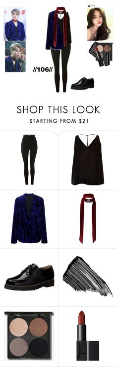 """""""//106// (Jimin BS&T Inspired)"""" by luhva ❤ liked on Polyvore featuring Topshop, River Island, Haider Ackermann, Miss Selfridge, Paul Green, Sisley and MAC Cosmetics"""