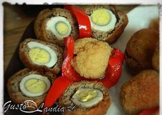 Oua scotiene Homemade Food, Sausage, Appetizers, Eggs, Meat, Breakfast, Recipes, Beef, Morning Coffee