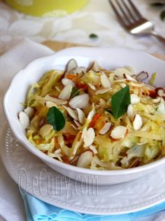 Sauteed Cabbage and Sweet Onions with Almonds Recipe