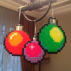 Christmas ornaments hama beads by designpuki