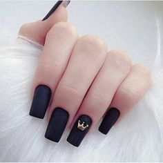 A manicure is a cosmetic elegance therapy for the finger nails and hands. A manicure could deal with just the hands, just the nails, or Long Acrylic Nails, Acrylic Nail Art, Love Nails, My Nails, Fall Nails, Crown Nails, Crown Nail Art, Tumblr Nail Art, Black Nails Tumblr