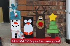 Things to make from 2x4 wood   2x4 Christmas decor by marian