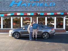GREG's new 2016 Ford Fusion! Congratulations and best wishes from Jay Hatfield Ford and SCOT FISHER.
