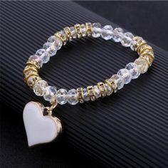 fbf006a24e0c Colorful Beads Charms Bracelets For Women Jewelry Heart