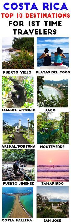 Visiting Costa Rica for the first time? Here are the 10 best destinations for first time travelers. All are easy access from the airport, have plenty of fun activities and have all the services and conveniences http://mytanfeet.com/costa-rica-travel-tips/best-places-in-costa-rica/