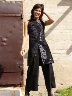 Tailored elegant women's tunicThe WOMAN WARRIOR by SHIHAR on Etsy, $145.00