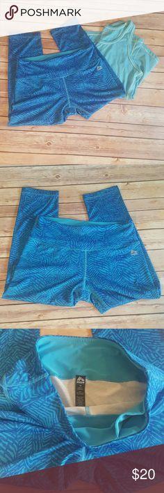 RBX Yoga capris size medium RBX Yoga capris size medium  Excellent condition  Hidden pocket in front waistband  Awesome blue colors RBX Pants Capris