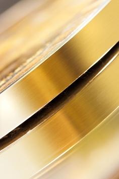 Brass trim detail.