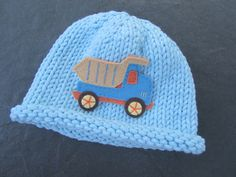 Knitted Baby Hat  Blue Hand Knit Baby Hat Baby by UpNorthKnits, $26.00