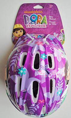Dora the Explorer Nickelodeon Helmet - Purple/Pink Review Helmets For Sale, Kids Helmets, Kids Bike Accessories, Dora The Explorer, Purple, Toys, Skates, Bicycles, Diy Home