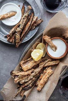 Baked Eggplant Fries with Goat Cheese Dip (Gluten Free, Grain Free)