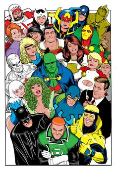 Justice League International by Kevin Maguire. Great commission I haven't seen before.