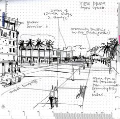 lines on paper: urban planning sketches