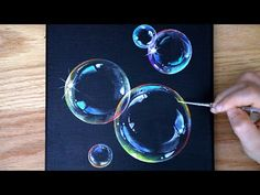 Bubble Drawing, Bubble Painting, Bubble Art, Acrylic Art, Acrylic Painting Canvas, Diy Painting, Painting & Drawing, How To Paint Canvas, Canvas Painting Projects