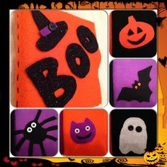 Halloween felt crafts - Quiet book that I made for my son for his first Halloween ;)