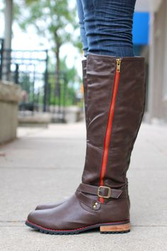 Riding Boot with Zipper   uoionline.com: Women's Clothing Boutique