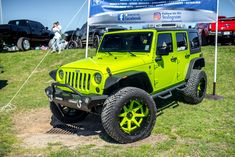 Completely Reworked Neon Green Jeep Wrangler Unlimited by Fuel Off-road Jeep Wrangler Unlimited, Green Jeep Wrangler, Jeep Wrangler Rubicon, Jeep Wranglers, Lime Green Jeep, Blue Jeep, Neon Green, Green Colors, Jeep Rims