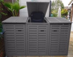 Wheelie Bin Store Top Quality Painted Free in your Colour Gas Strut Lid Opening #Unbranded