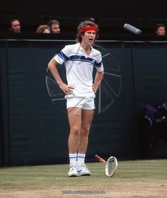 john mcenroe has a tantrum during the 1981 Image Copyright © Colorsport Watermarking and Website Address do not appear on finished products Printed items are produced from higher quality original artwork